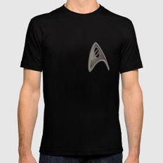 Science Black SMALL Mens Fitted Tee