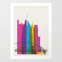 Shapes Of Pittsburgh. Ac… Art Print