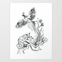 King Phoenix Art Print
