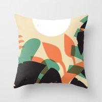 Jungle Sun #1 Throw Pillow