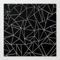 Ab Dotted Lines   Canvas Print