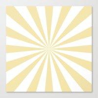 Starburst (Vanilla/White) Canvas Print
