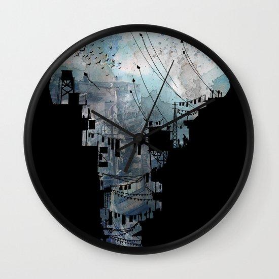 Secret Streets II Wall Clock