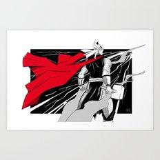 The God of thunder Art Print