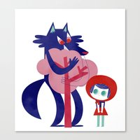 Red Riding Hood - Tricol… Canvas Print