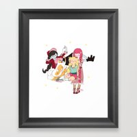 Braids Time Framed Art Print
