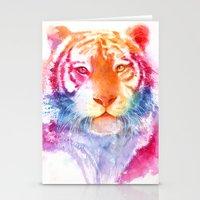 Rainbow Stripes Stationery Cards