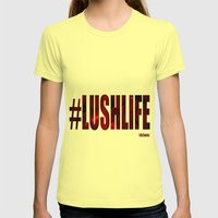 #LushLife Womens Fitted Tee Lemon SMALL