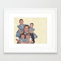 He's a family man Framed Art Print