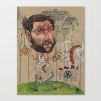 LOGAN'S BBQ Canvas Print