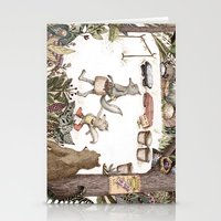 Mr.Brown is late for the market Stationery Cards