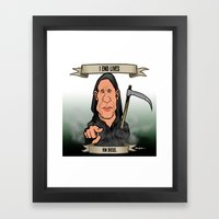 I End Lives (Vin Diesel) Framed Art Print