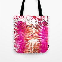 Pink, gold and red ghost print Tote Bag