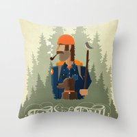 Tails Of The Trail Throw Pillow