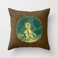 Hades and Persephone Throw Pillow