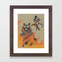 Feel The Burn! Framed Art Print
