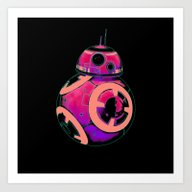 BB-8 Pop Pinks And Coral Art Print