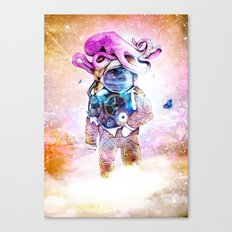 The spaceman & the octopus Canvas Print