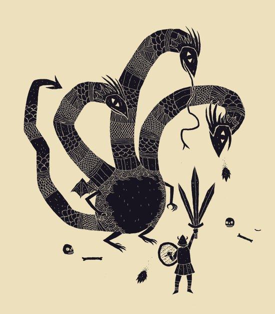 hydra(dark) Art Print