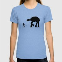 A Boy And His AT-AT Womens Fitted Tee Tri-Blue SMALL