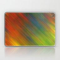 Diagonal Rainbow 3 Laptop & iPad Skin