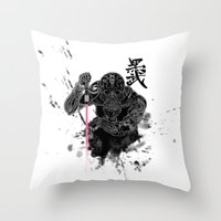 Darth In Dark Throw Pillow