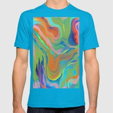 AGATE INTERPRETED:  HOT WAVES SUMMER BREEZE OIL PAINTING Mens Fitted Tee Teal SMALL