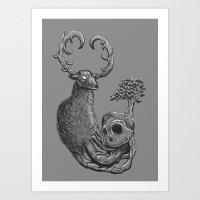 Nature Life Cycle BW Art Print