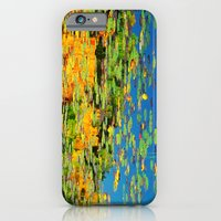 Lilly pond in the style of Monet iPhone 6 Slim Case
