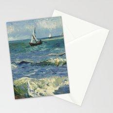 The Sea at Les Saintes-Maries-de-la-Mer by Vincent van Gogh Stationery Cards