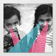 Nepal Eyes Canvas Print