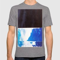 SKY/BLK Mens Fitted Tee Tri-Grey SMALL