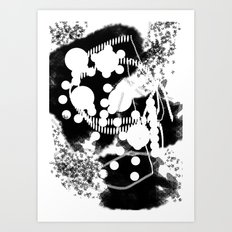 black whıte Art Print