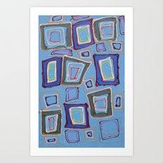 Newport Blue Art Print