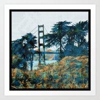 Magic Sunset Bridge - Sa… Art Print