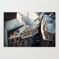 Looking down on Old Town Canvas Print