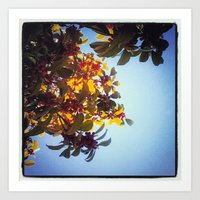 The Red Berry Tree (An I… Art Print