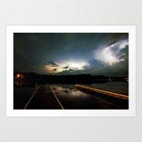 Lightning Bay Art Print