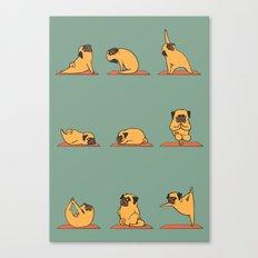 Pug Yoga Canvas Print