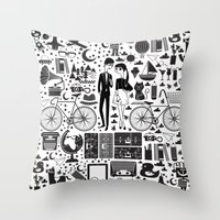 LIKES PATTERNS Throw Pillow