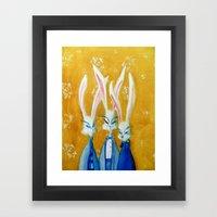 Rabbit Family Framed Art Print