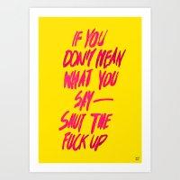 MEAN / popart version Art Print