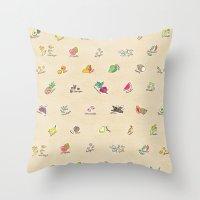Las Frutas y Verduras de Latinoamerica Throw Pillow