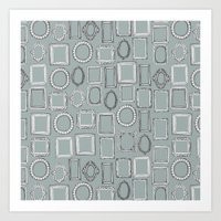 Picture Frames Grey Art Print