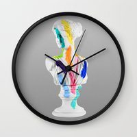 A Grecian Bust With Colo… Wall Clock