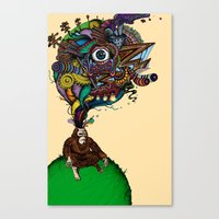 BigFoot & the Electrogasms Canvas Print