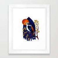 Window Bird Framed Art Print
