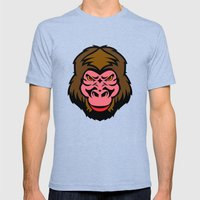 MONKEY BIZ Mens Fitted Tee Tri-Blue SMALL