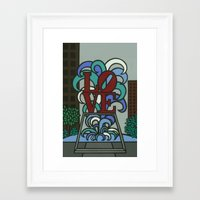 pop LOVE park Framed Art Print