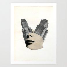 Blank City Art Print